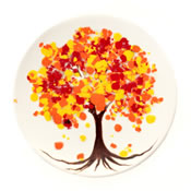 Colors of Autumn Salad Plate