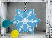 Cool in Blue Snowflake Ornament