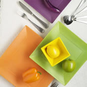 Neon Satin Dinnerware