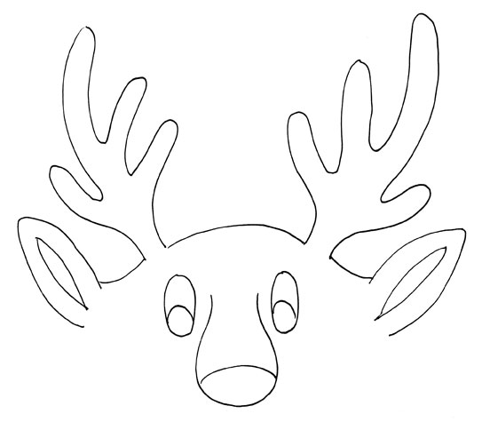 Arctic antlers ceramic supplies now for Rudolph antlers template