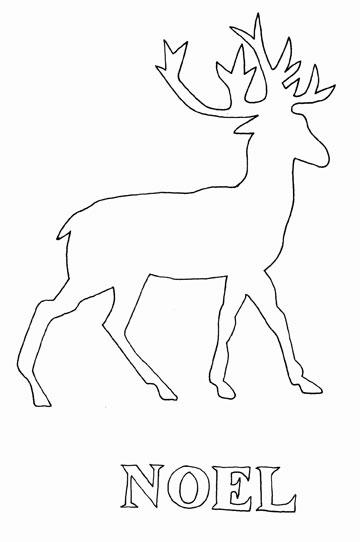 Reindeer Silhouette Plate Ceramic Supplies Now